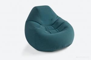 68583 Кресло DELUXE BEANLESS BAG серое 122х127х81см