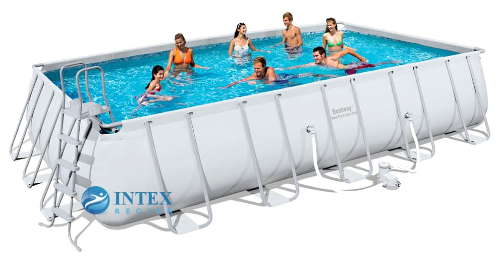 Каркасный бассейн Bestway 56470 671х366х132 Rectangular Power Steel Frame