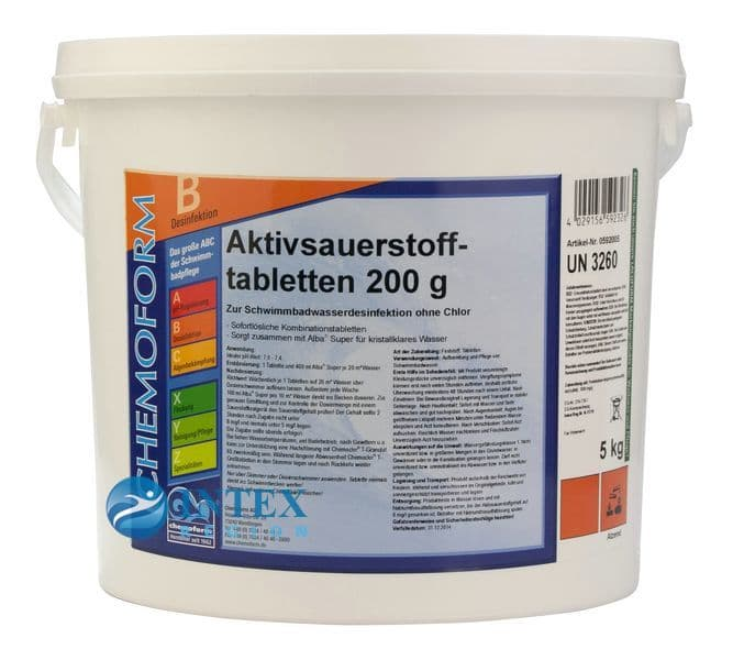 Аквабланк О2 в таблетках 200 гр. Кемоформ (Chemoform)