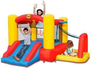 """Детский надувной батут с горкой """"Игровой центр 4 в 1"""" HAPPY HOP 9450"""