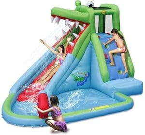 """Детский надувной водный батут с горкой """"Крокодильчик"""" HAPPY HOP 9240"""