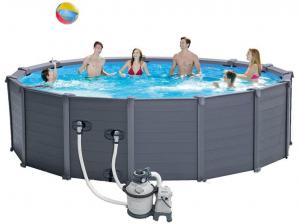 Каркасный бассейн Intex 26384 478x124 Graphite Gray Panel