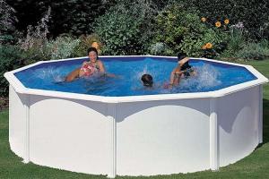 Каркасный бассейн GRE PR358MAG круглый 350x132 см