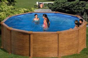 Каркасный бассейн GRE KITPR458WOMAG круглый 460x132 см