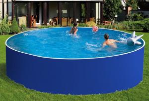 Сборный бассейн ЛАГУНА 24417 круглый 244х125 см (синий)