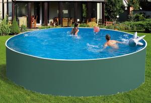 Сборный бассейн ЛАГУНА 36618 круглый 366х125 см (зеленый)